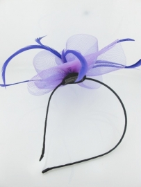 Paarse Fascinator Haarband