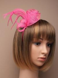 Sinamay Haarband Roze