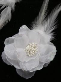 Witte Bloem met Glitter 1 st