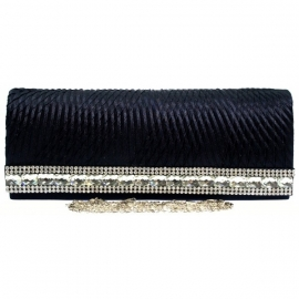 Hard Cased Clutch Donker Blauw