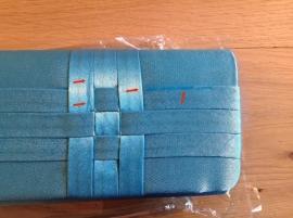 Gevlochten Tasje Blauw SALE