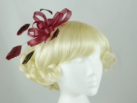 Bordeaux Rode Fascinator