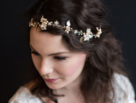 Hair Vine Bloemen Haarband Goud