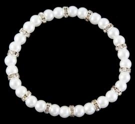 Parel & Rondelles Armband Wit