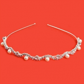 Parel & Strass Diadeem