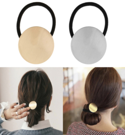 Ponytail Deco Rond Zilver