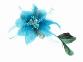 Turquoise Feather Flower