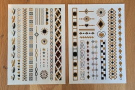 Metallic Tattoos 3 Goud & Zwart