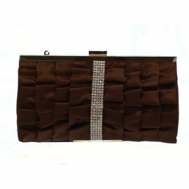 Ruffled Brown Party Bag
