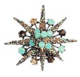 Blauwe Opaal Ster Haarclip & Broche