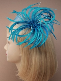Decoratieve Fascinator Turquoise
