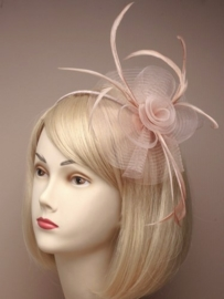 Swirl Fascinator Latte Haarband