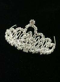 Silver Looped Tiara Comb