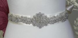 Crystal Bruids Ceintuur Ivoor