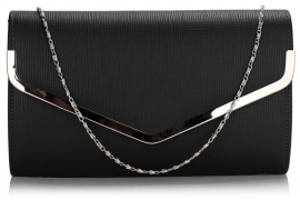 Zwarte Faux Leather Clutch
