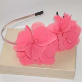Ruffled Flower Haarband Roze