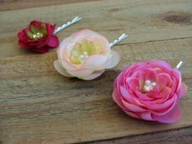 Kleine Haarbloemen Roze 3 st