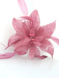 Soft Pink Flower Hair Comb