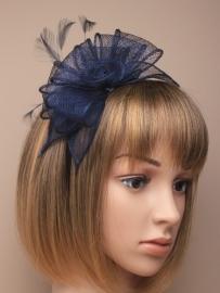 Sinamay Haarband Donker Blauw