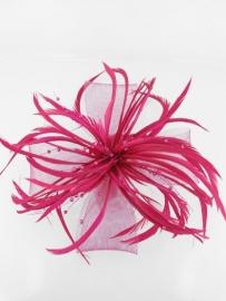 Decoratieve Fascinator Fuchsia