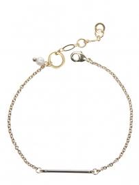 Armband met staafje en parel / goud