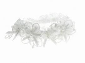 Kousenband Wit met Strikjes
