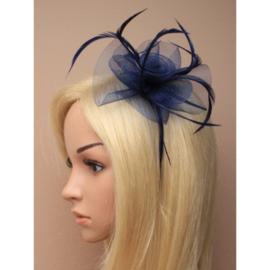 Donker Blauwe Fascinator Haarband