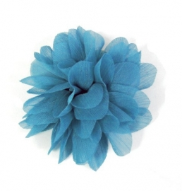 Licht Blauwe Chiffon Bloem