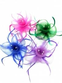 Paarse Fascinator Haarclip
