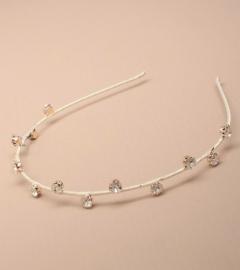 Licht Ivoor Haarband met Kristallen