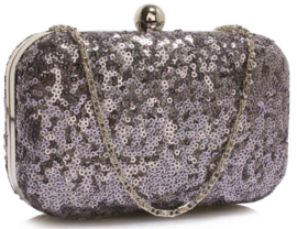 Pailletten Clutch Zilver