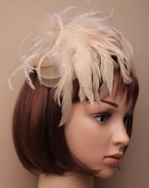 Nude Fascinator Haarband