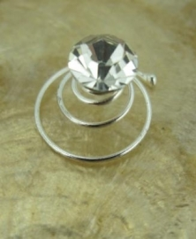 Swirl Crystal Klein 6 st