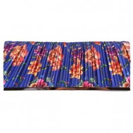 Avondtasje Bloemenprint Blauw