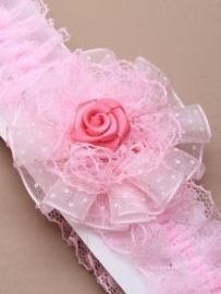 Kousenband Roze met Roosje