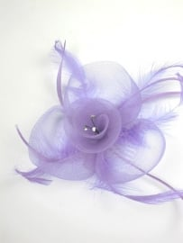 Lila Fascinator Haarkam
