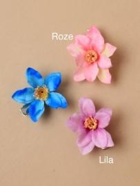 Kleine Lila Bloem Haarclip 2 stuks