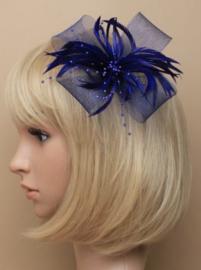 Decoratieve Fascinator Donker Blauw