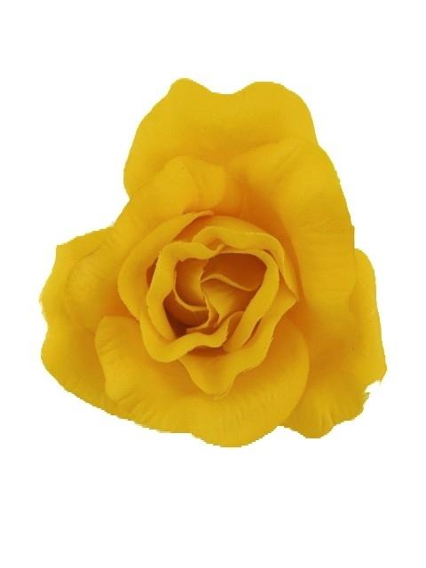 Gele Roos Haarclip