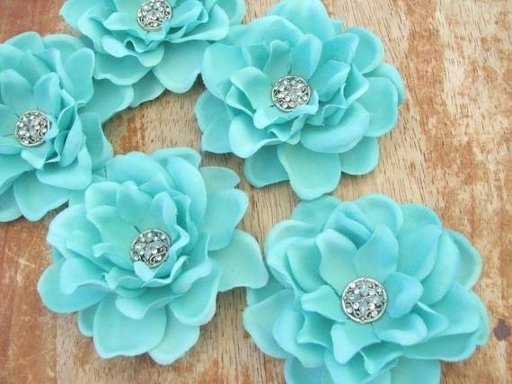 Haarbloem Vintage Gardenia Tiffany Blue