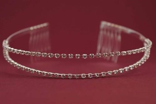 Two Row Diamante Tiara/ Diadeem