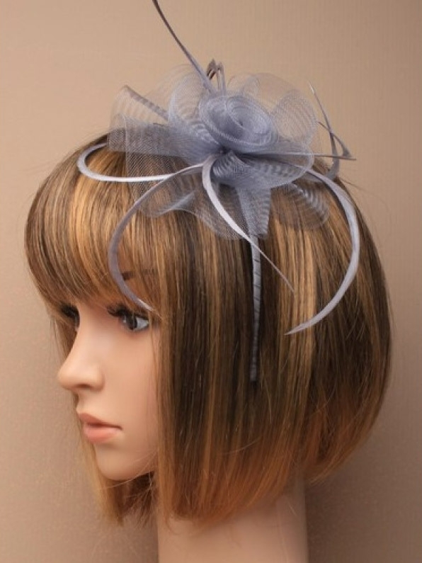 Swirl Fascinator Grijs Haarband