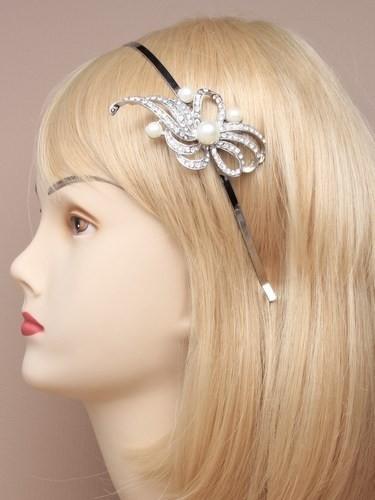 Kristallen Parel Swirl  Haarband