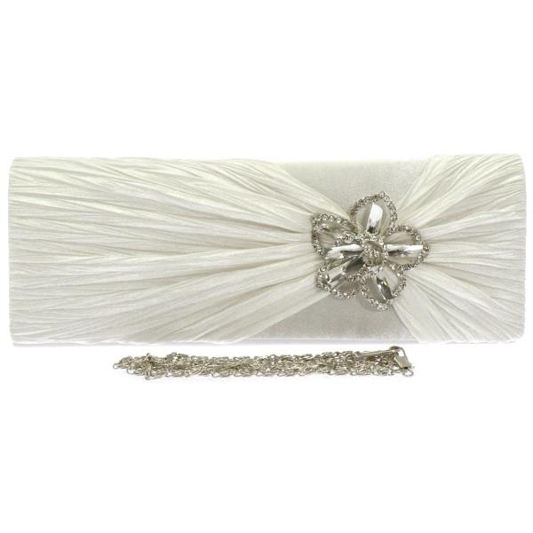 Licht Ivoor Bruidstasje met Fonkelende Decoratie SALE