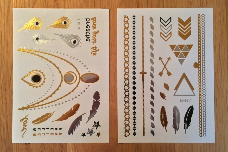Metallic Tattoos 3 Goud & Zilver