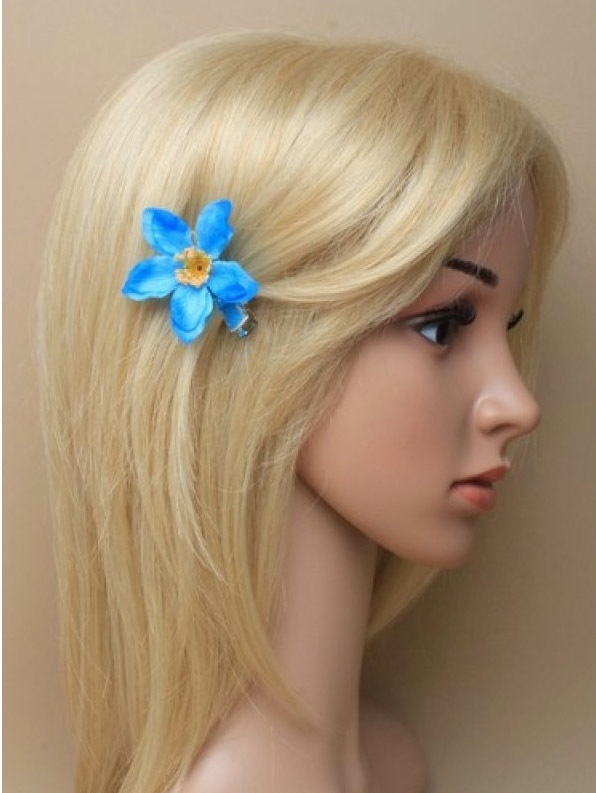 Kleine Blauwe Bloem Haarclip 2 stuks
