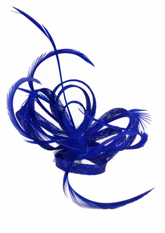 Kobalt Blauwe Accessoires.Kobalt Blauwe Sinamay Strik Fascinator Blauw Fashion