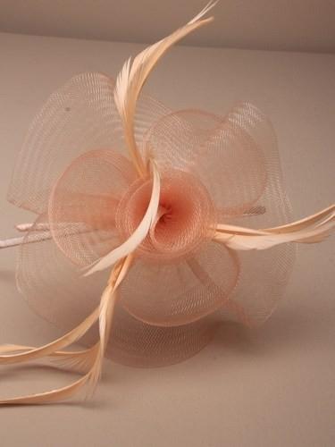 Swirl Fascinator Peach Haarband