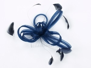Navy Blauwe Fascinator