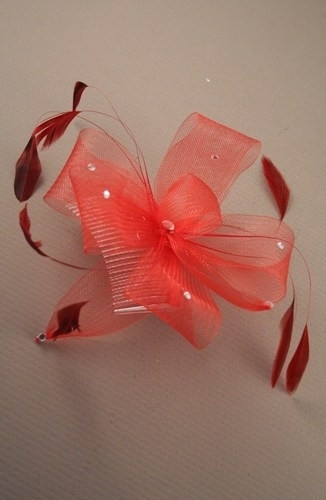 Red Sparkley Bow Haarkam